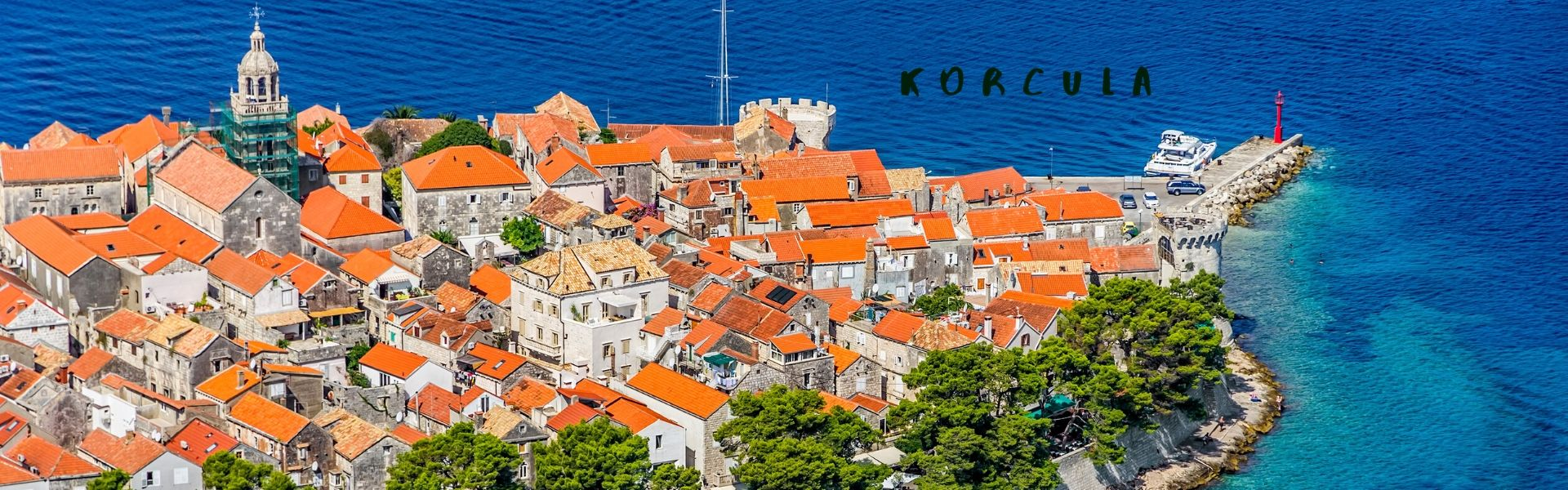 Boat charter to Korcula